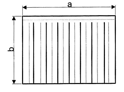 Krefft Vorhang für Spülmaschine für Einlauf Breite 660mm Höhe 550mm Spültechnik