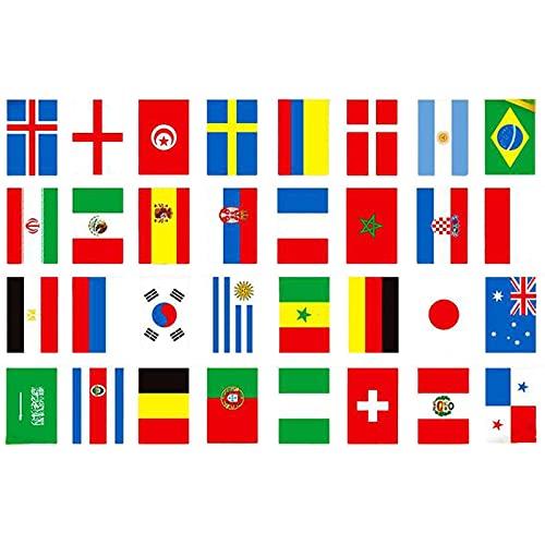 JINGLING Euro 2021 Bunting Guirlande De Fanions Football Bruant Les 24 Drapeaux des Équipes Participantes Bruant pour La Décoration De Bars, Fêtes, De La Maison Et De L'extérieur