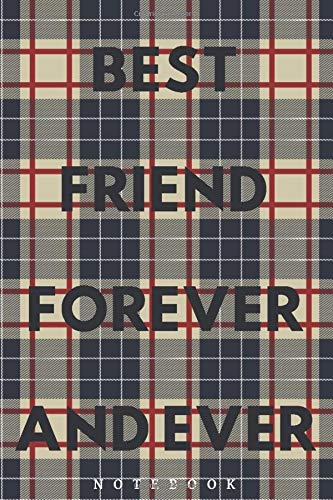 Lumberjack Plaid Tartan Journal | Best Friend Forever (BFF) and ever | Notebook Gift Ideas: College ruled paper for notes | composition book | Happy ... at 6 x 9 in (Lumberjack notebook, Band 12)