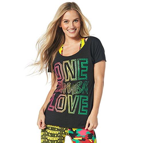 Zumba BR & Nameinner - Camiseta para Mujer, diseño con Texto en inglés One BR &Nameinterior, Mujer, Color Back to Black, tamaño Small