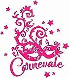 Vetrofanie - Carnevale e Maschere - Vetrofanie per Carnevale, vetrine Negozi, Stickers, Adesivi (Fucsia)