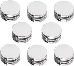 Gobesty Abrazaderas de vidrio, 8 piezas Clip de soporte de montaje de soporte de acristalamiento de balaustrada de 4-7 mm ...