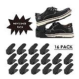 femor 16PCS Support à Chaussures Réglables, Convient aux Chaussures Grande Taille, 3 Niveaux de Hauteur Réglable, Organiseur de Chaussures, Economie d'Espace à Chaussures Support Rack Plastique