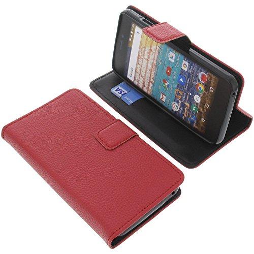 foto-kontor Tasche für Archos 50f Neon Book Style rot Schutz Hülle Buch
