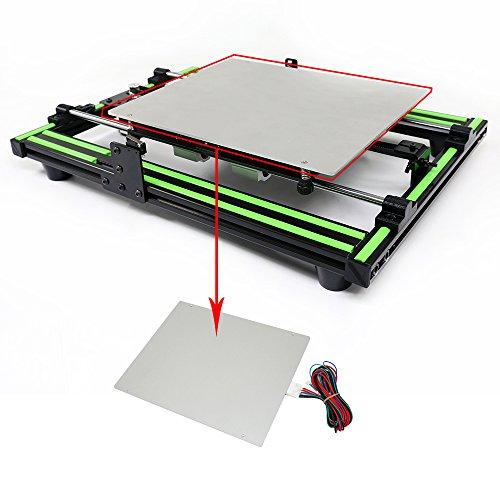 Cama calefactada de aluminio Anet MK2 MK3 12 V con cable de línea ...