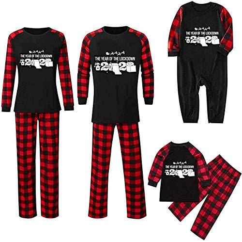 Christmas Jammies Family Holiday Pjs para hombres/mujeres/niños/bebé/mascota perro Navidad ropa de dormir conjunto