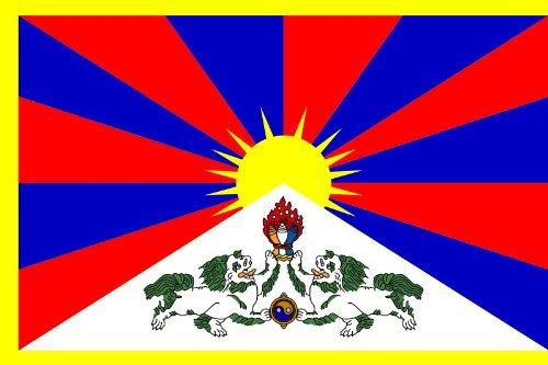 Etaia 5,4x8,4 cm Auto Aufkleber Fahne/Flagge von Tibet Länder Sticker fürs Motorrad Bike Handy Laptop