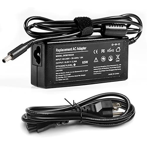 LQM AC Adapter for Dell Inspiron 11 3000 Series 2-in-1 i3147 i3158, 13 7000 Series i7347, Inspiron 14 3000 7000 Series 7437, Inspiron 15 5000, Latitude 13 7000 Series 7350 Power Cord (90W)