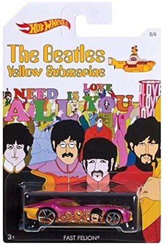 Fast Felion Hot Wheels 1:64 Scale The Beatles Yellow Submarine