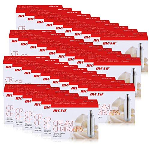 Sahnekapseln 360 Stück, passend für alle handelsüblichen Sahnebereiter von Liss, mosa, Isi, Kayser