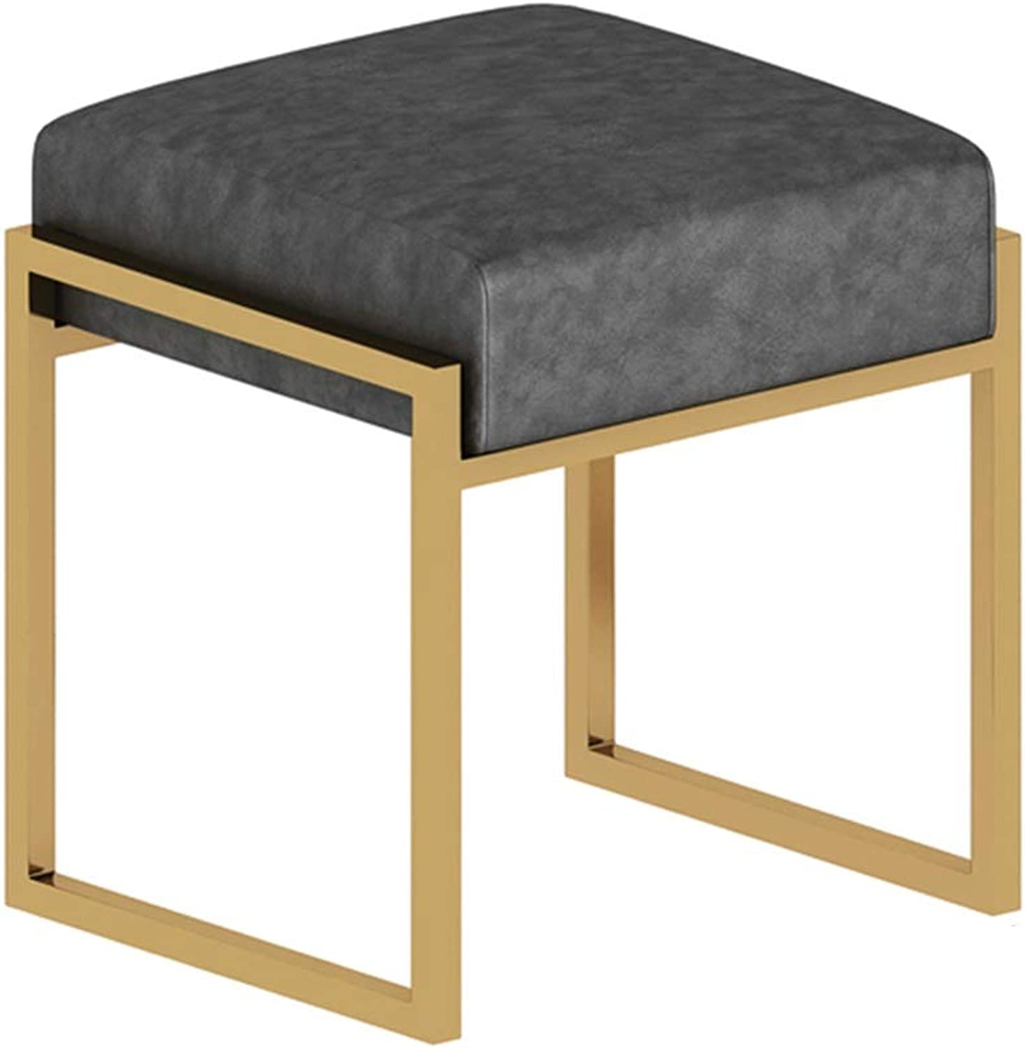 Makeup Chair Vanity Stool Change shoes Stool Tea Table Porch Stool Makeup Stool Footstool Bedroom Stool Cloakroom Stool Dining Stool Vanity Stool (color   Black, Size   37x42.5x45cm)