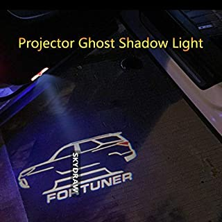 1 Pair For FORTUNER (2017-2019) Car LED Door Welcome Light Warning Light Projector Ghost Shadow Light zghzsc