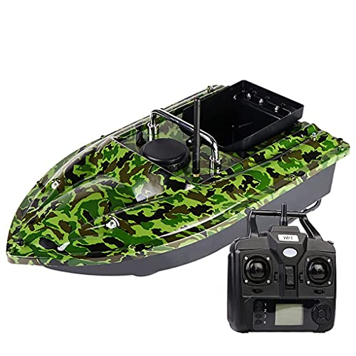 HYLDM RC Fischk & ouml; Der Boot, 500 MT Buscador de Peces Remoto Schiff 2 kg Gro & szlig; e Kapazit & auml; t Laden RC Boot Schnellboot Motor Dual, GPS 12000 MAH