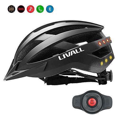 Livall Helm matt Black Größe 58-62 Bluetooth MT1 Erwachsene Unisex schwarz 58-62 cm