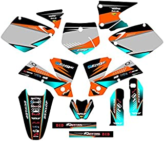 Senge Graphics kit compatible with KTM Late 2001 SX (Has the same plastics as the 2002 SX 250), Surge Orange Graphics Kit