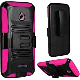 Holster Clip + Hybrid Phone Cover Case For Alcatel Ideal 4060a GoPhone...