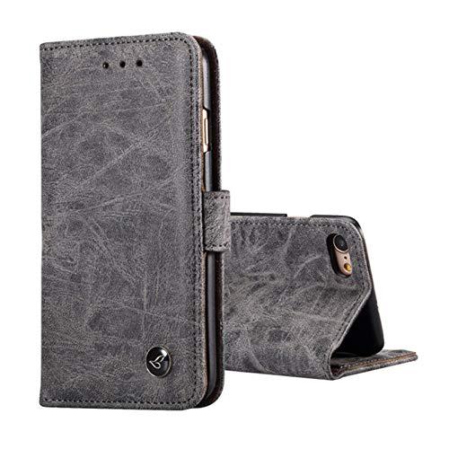 Lincom Bookcase Schutzhülle für Nokia 6 2017. Spaltleder Handytasche Hülle Handycase Schutzhülle Handy Hülle Etuis Bag Wallet (Schwarz)