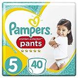 Pampers Premium Protection, 40couches, Lot de 2(2x 40pièces) pour bébé, taille 5 (12-17 kg)