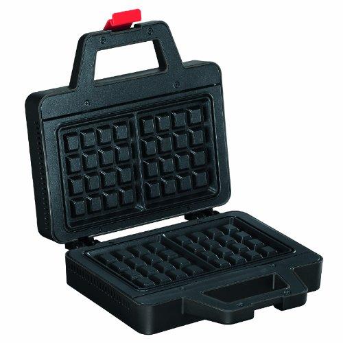 Bodum BISTRO Waffeleisen (700-Watt, Antihaftbeschichtung, 5-Temperatureinstellungen) schwarz