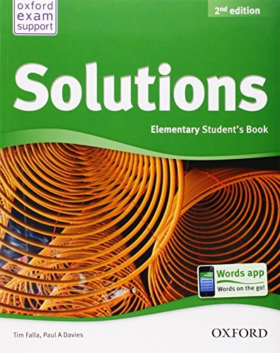 Solutions Elementary Students Book Elementary By Tim Falla 2012 04 12