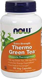 NOW Supplements, Thermo Green Tea, Extra Strength, with 700 mg Green Tea and 350 mg EGCg, 90 Veg Capsules