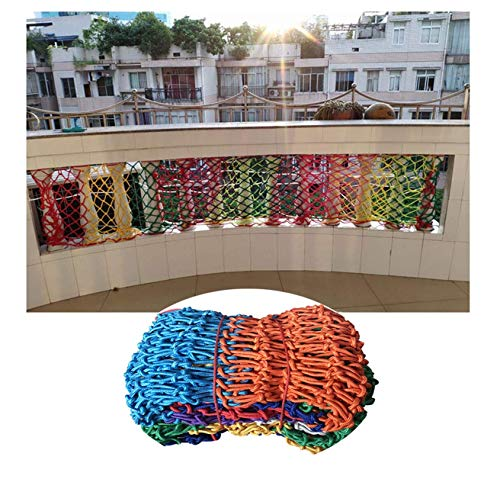 HJRD Stair Handrail Anti-fall Net, Balcony Decorative Protective Net, Children Cat Climbing Safety Net, Garden Fence Net, Clothes Net, Colored Nylon Rope Net, Anti-aging, No Odor (Size, 5 * 10