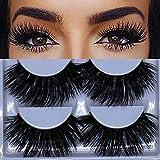 5 Pairs Mink Hair 3D Lashes Dramatic Makeup Strip Eyelashes 100% Siberian Fur Fake Eyelashes Hand-made False Eyelashes (K02)