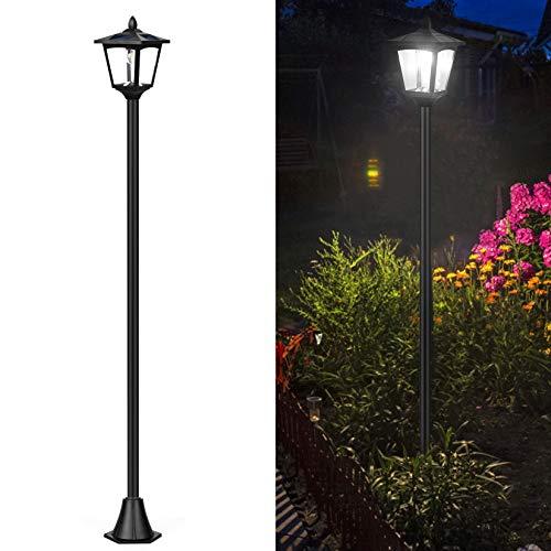 69' Solar Lamp Post Lights, Waterproof Outdoor Solar Powered Vintage Street Lights for Backyard,...
