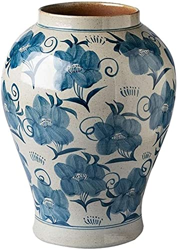 Vase Dekoration Home Blumentopf Antike Handgemachte Dekoration Tisch Tee Tischdekoration Garten Wohnkultur Blume Töpfe Blau JXLBB