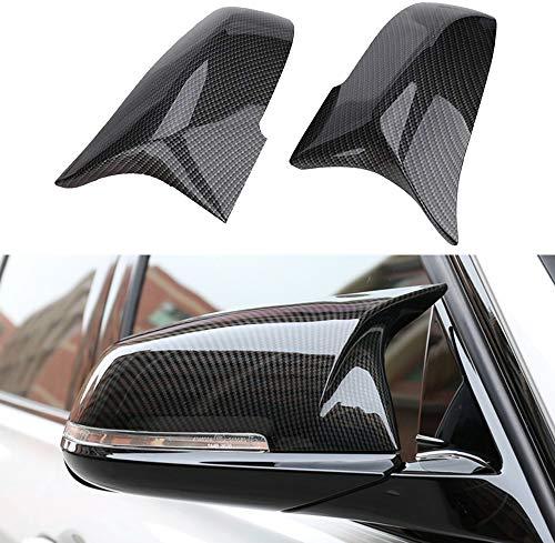 Door Rearview Mirror Cover Cap Compatible with BMW 228i 435i 116i 118i 120i 125i 130i 218i 220i 320i 328i 330i 335i 420i 428i 435i F21 F30 F31 F32 F33 F36 X1