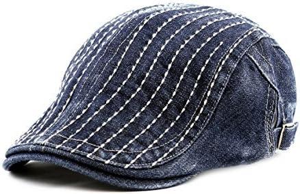 The Hat Max 67% OFF Depot 200h4130 Thick Stitched Newsboy Denim Ivy Elegant
