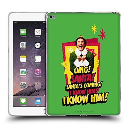 Head Case Designs Ufficiale Elf Movie Amico Grafiche 1 Cover in Morbido Gel Compatibile con iPad Air 2 (2014)