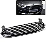 Front Bumper Upper Grille Grill Assembly Compatible For Ford Fusion 2013-2016 Honeycomb Mesh Grille Replaces DS7Z-8200-BA ,FO1200553