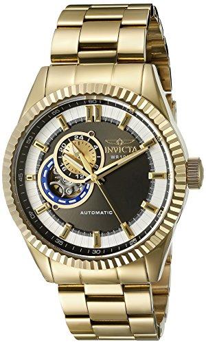 Invicta 22081 - Reloj de Pulsera Hombre, Acero Inoxidable, Color Oro