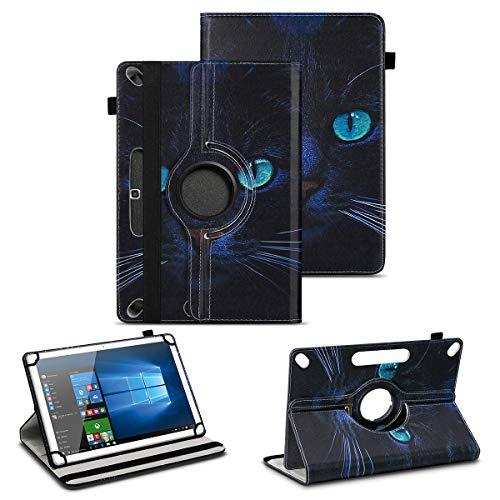 NAUC Tablet Tasche kompatibel für Archos Copper 101C Hülle Schutzhülle aus hochwertigem Kunstleder Standfunktion 360° Drehbar Universal Hülle, Farben:Motiv 6