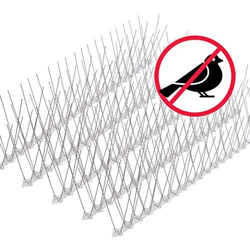 riijk Sistema Anti Uccelli in Acciaio Inossidabile - 15 Metri di Anti Piccioni - Pre-Assemblato