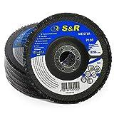 S&R Disco de Láminas Abrasiva 125 m x 22,23 para Acero...