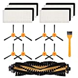 SODIAL 8 Cepillos + 4 Filtros Hepa + 1 Cepillos Principales para Ecovacs Deebot N79 N79S Aspirador Robótico, Accesorios de Cepillos Principales Kit de Piezas de Repuesto