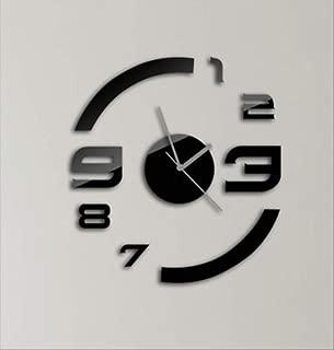 MINGCHEN Reloj Suphang Estéreo Acrílico DIY Espejo Rectangular Cristal Pared Pasta Reloj De Pared A Pared Negro