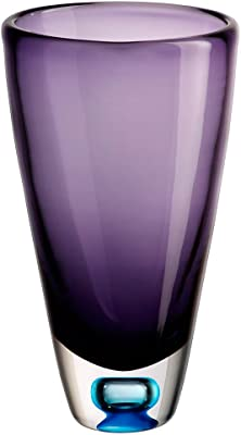 Lorren Home Trends 239200-50 RCR Crystal Fusion Small Vase with Italian Silver Decal