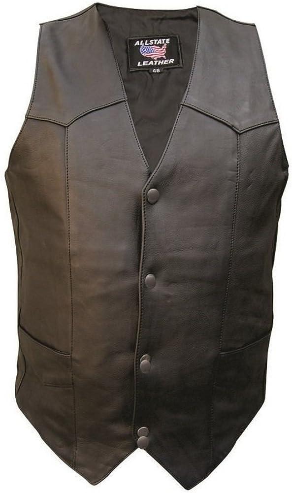 Allstate Leather Men's Basic Plain Vest