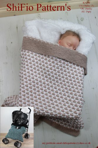 Knitting Pattern -KP236 - Buggy/stroller Baby Blanket (English Edition)