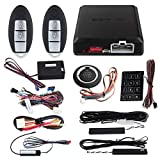 EASYGUARD EC002-NI-NS FSK Technology Rolling Code Smart Key pke car Security Alarm System with Passive keyless Entry auto Start Stop keyless go & Touch Password Entry Backup