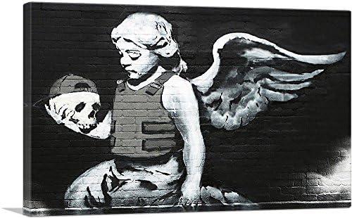 ARTCANVAS Ozone s Angel Canvas Art Print by Banksy 26 x 18 0 75 Deep product image
