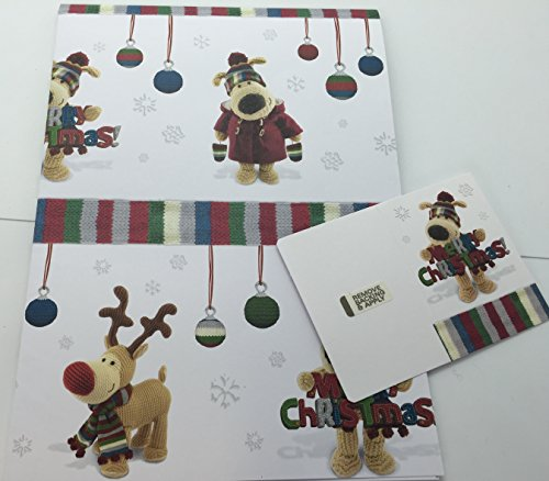 Papel de regalo Boofle de pesadilla antes de navidad y etiqueta