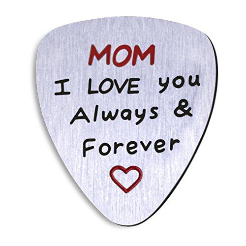 NationinFashion Perfekt Mother s Day Gitarre Pick- Geschenk von Tochter Oder Sohn. Mom I Love You Always and Forever Medaille.