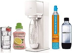 Sodastream MegaPack Play Blanche Machine à eau pétillante et soda + 2 Bouteilles 1L + 1 Concentré Limonade Rose