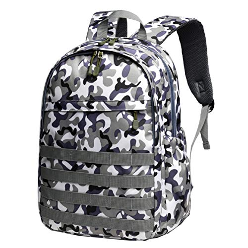Boys Backpack Waterproof Kids School Bag Outdoor Travel Camping Daypack Camo Rucksack(Camo- Amy Blue, Small)