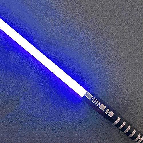 Hengqiyuan Spada Laser Star Wars, Manico in Metallo Ricarica USB Staccabile Esperienza Reale Spada Laser Duello Adulto Bambini Regalo Giocattolo Spada Laser,Blu