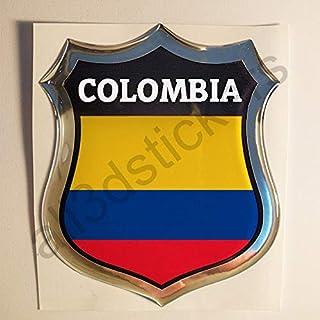 Artimagen Pegatina Bandera Ondeante Colombia Mediana 80x60 mm.